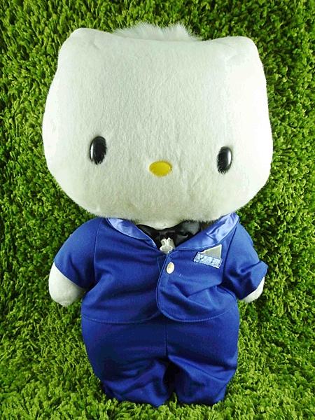 【震撼精品百貨】Hello Kitty 凱蒂貓~絨毛娃娃-丹尼爾(藍站)