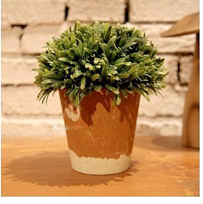 【依雲山谷】單球仿真裝飾植物盆景(一個價)(圖一)-ET82364