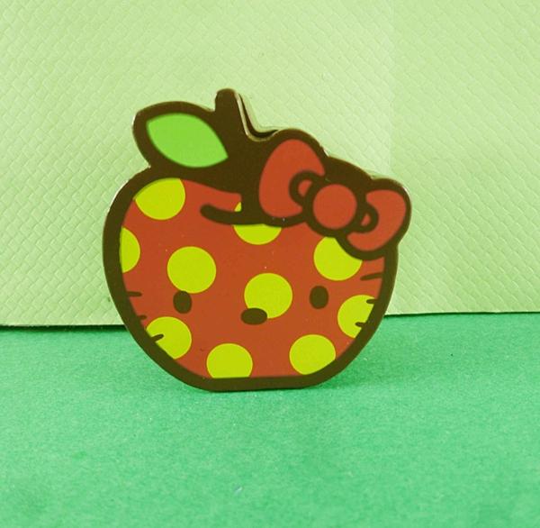 【震撼精品百貨】Hello Kitty 凱蒂貓~膠台-紅蘋果