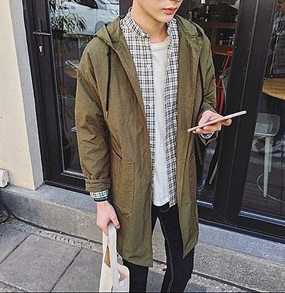【找到自己】韓國 質感 長版 外搭 高質感 大衣 外套 男