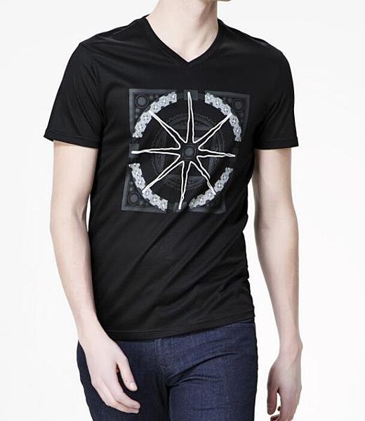 FINDSENSE MD 韓國 男 街頭 時尚 潮 特色星型圖案  短袖T恤 特