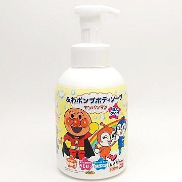 日本 BANDAI Anpanman麵包超人無添加泡沫沐浴乳 500ml (1975)  - 超級BABY