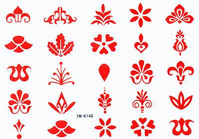 薇嘉雅 古老圖騰 紋身貼紙 K146