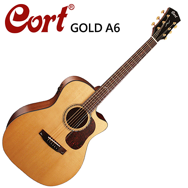 ★Cort★嚴選GOLD-A6單板電木吉他~內建FISHMAN 麥克風收音裝置