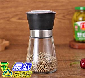 [8玉山最低比價網] 玻璃 胡椒罐 調味罐 研磨罐 研磨器 玻璃瓶 手動研磨 玫瑰鹽 調味瓶  黑
