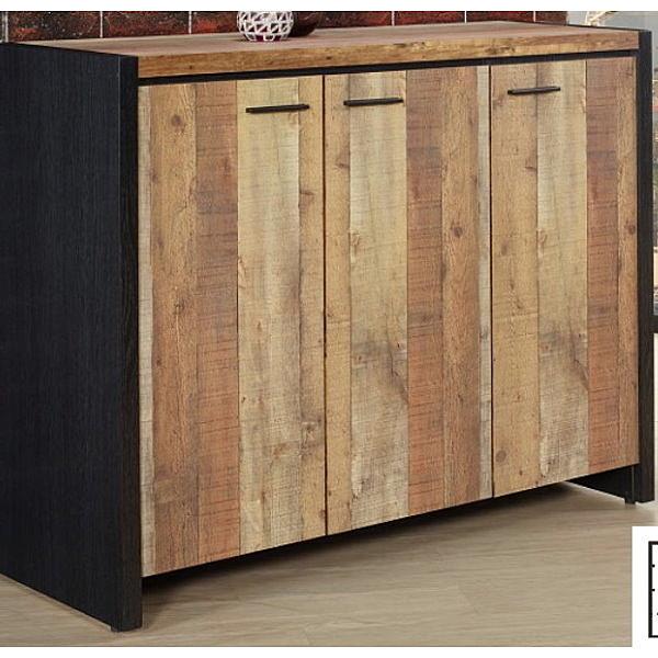 鞋櫃 SB-759-2 尼克森4尺厚切木紋三門鞋櫃【大眾家居舘】