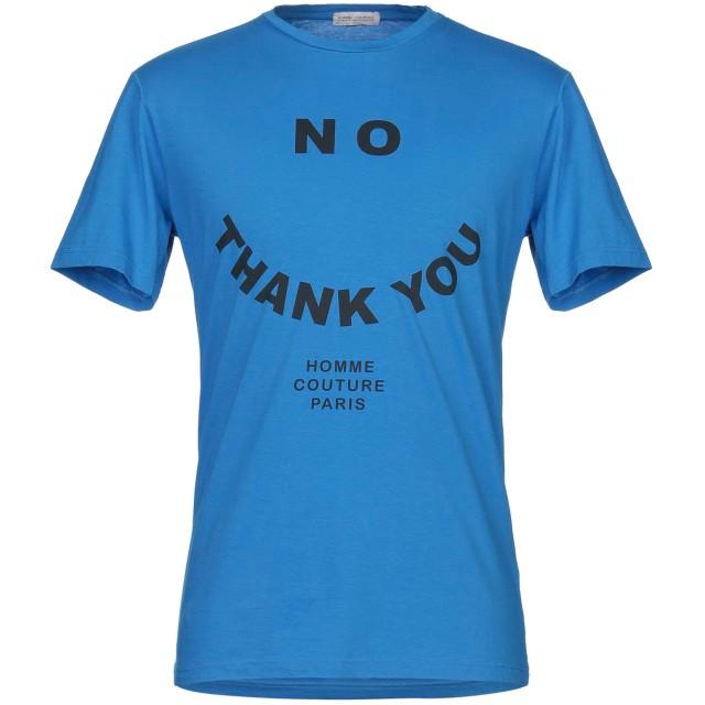 《セール開催中》DANIELE ALESSANDRINI HOMME メンズ T シャツ ブライトブルー M コットン 100%