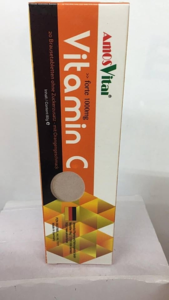 伊麗皙 Vitamin C 柳橙口味 發泡錠 1000mg*20錠(瓶)/12瓶