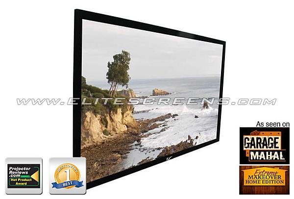 Elite Screens 92吋 R92RH1  高級固定框架幕-高增益背投 比例 16:9
