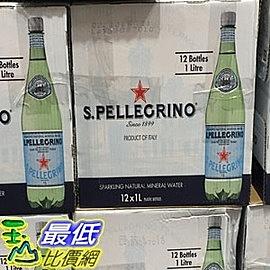 單次運費限購 一組無法超取 C56570 SAN PELLEGRINO WATER 聖沛黎洛寶特瓶氣泡礦泉水 1公升 X 12瓶
