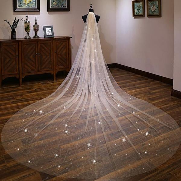 超長款拖尾頭紗女新娘結婚婚紗頭飾