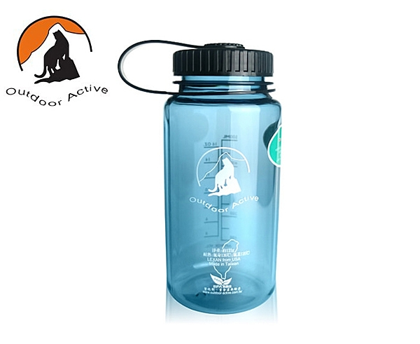 丹大戶外【Outdoor Active】山貓水壺 寬口隨手瓶系列 500c.c. 夢幻灰色 W500