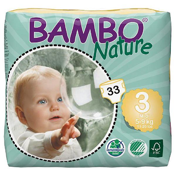 BAMBO 伴寶樂 嬰兒紙尿褲-3 號 (33片/包X6包/箱) Abena 丹麥進口【杏一】