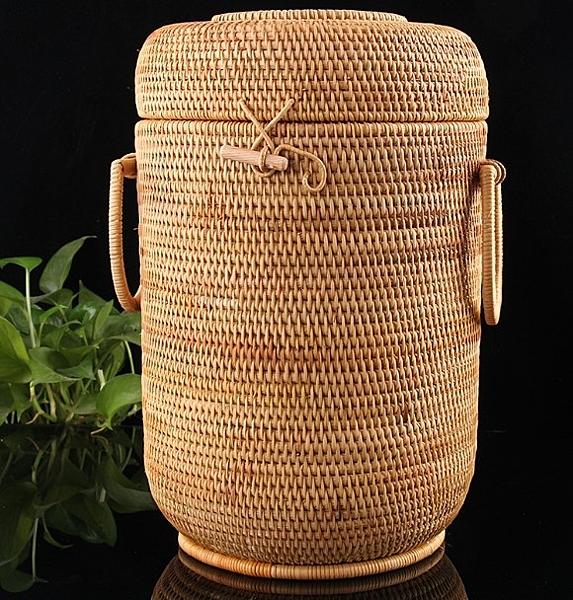 [協貿國際]手工籐編茶餅盒茶葉儲存筐