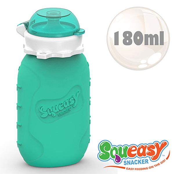 美國SQUEASY  QQ隨身瓶/水壺/水杯 180ml_水藍