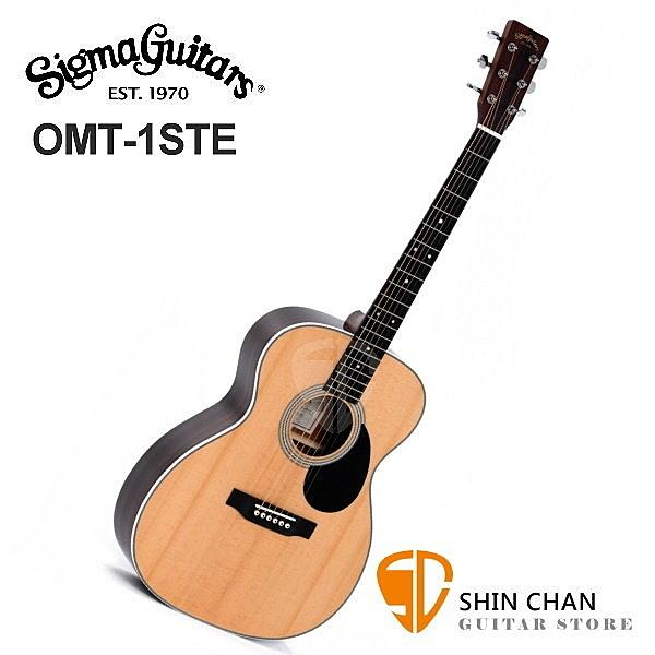 Sigma OMT-1STE 可插電木吉他/41吋切角單板民謠吉他 OM1STE 雲杉面單板/經典OM桶身/000-14)