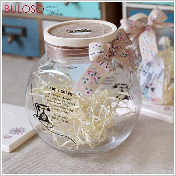 《不囉唆》大號-復古絲帶玻璃許願瓶 茶瓶/玻璃密封罐/糖果/花茶/堅果(不挑色/款)【A401192】