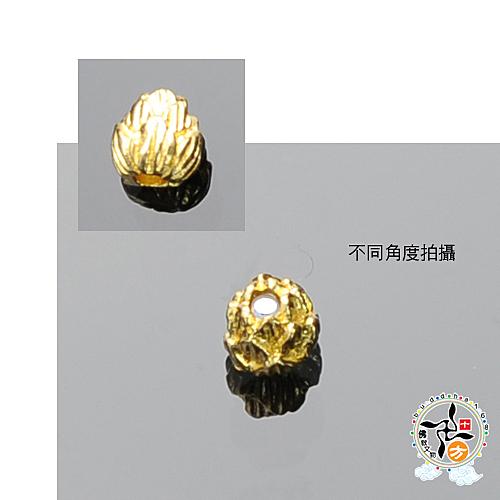 金蓮花(銅)0.9 公分  1入 +平安加持小佛卡  【 十方佛教文物】