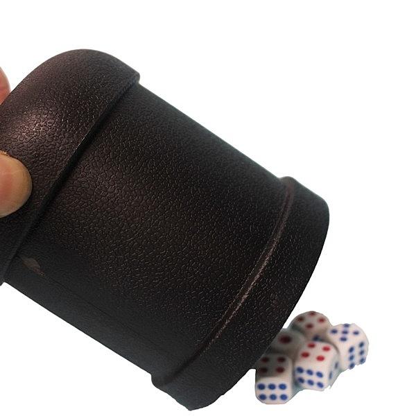 加厚 骰盅 黑色直筒 附5個骰子 7703/一組入(促50) 吹牛骰子樂 過五關骰盅遊戲 益飛牌-鑫