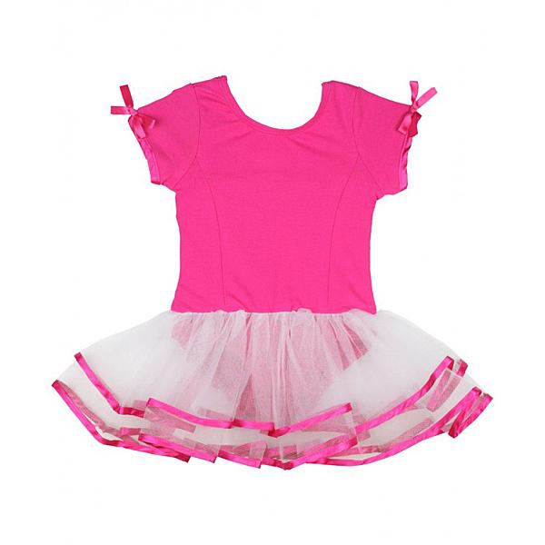女寶寶洋裝二件組 短袖蕾絲包屁紗裙 桃紅 | RuffleButts童裝 (嬰幼兒/兒童/小孩)