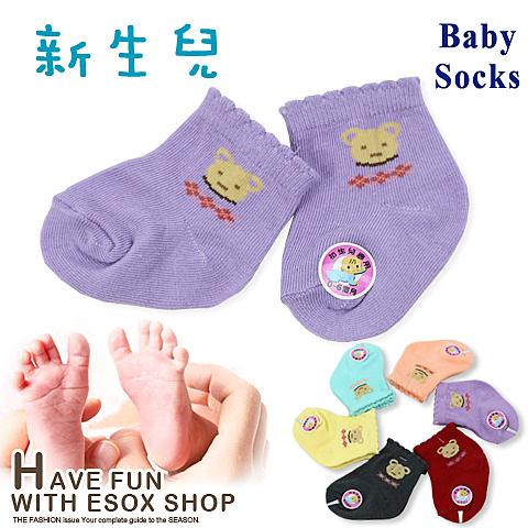 寶寶襪 熊頭菱格款 台灣製 Baby Socks