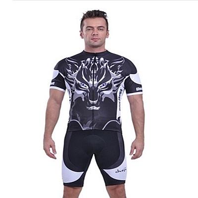 自行車衣套裝-含短袖腳踏車服+單車褲-多重選擇帥氣男運動服69u5[時尚巴黎]