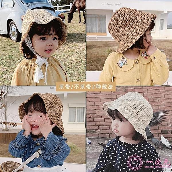 嬰兒帽 女童2020春季休閒草帽防曬春夏款遮陽帽嬰兒童寶寶漁夫帽子萌
