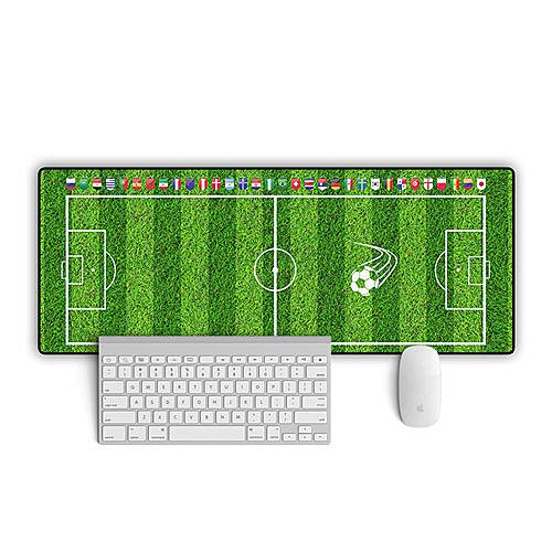 足球場滑鼠墊 辦公桌墊 (國旗 草皮款80*30cm)