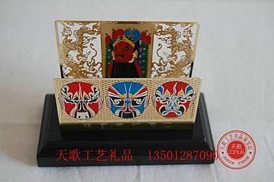 24K鍍金名片座臉譜