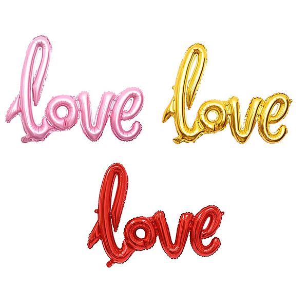 LOVE 連字 42吋 空飄氣球 鋁箔氣球 求婚告白 情人節 裝飾佈置【塔克】
