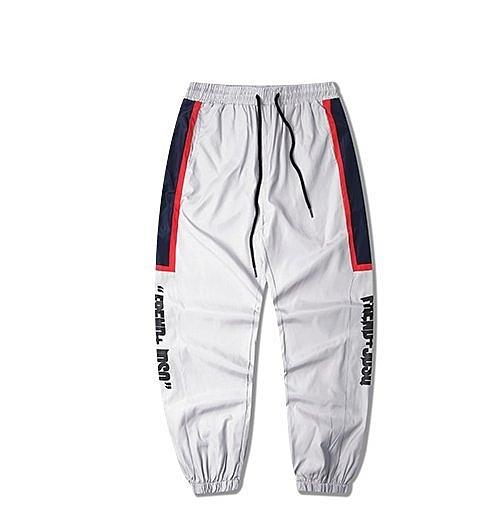 FINDSENSE H1夏季 日本 新款 薄款 撞色 印花 休閒  束腳九分褲