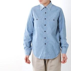 chimala チマラ シャンブレーワークシャツ cs23-s11a レディース