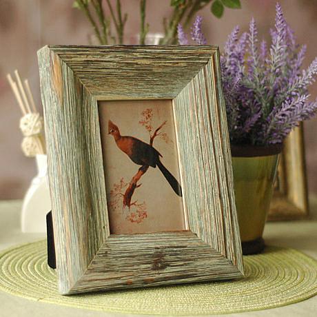 歐式美式鄉村 6寸仿實木相框