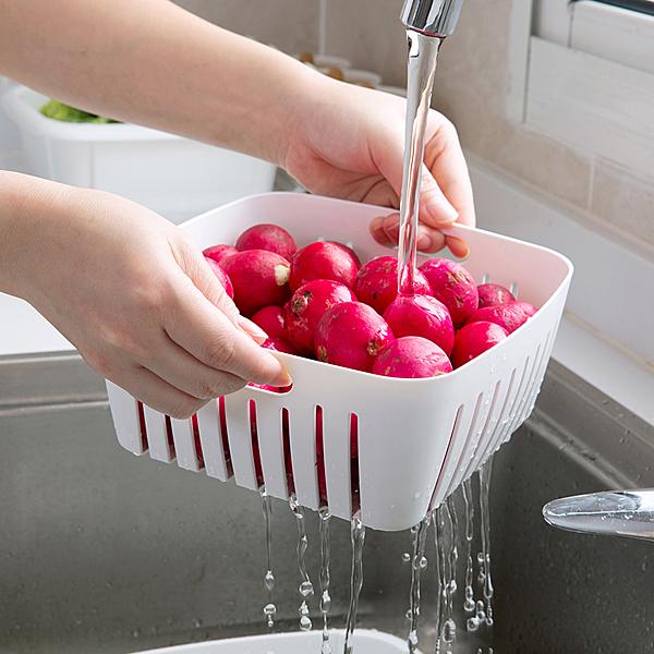 雙層瀝水洗菜保鮮盒 瀝水籃 D3391