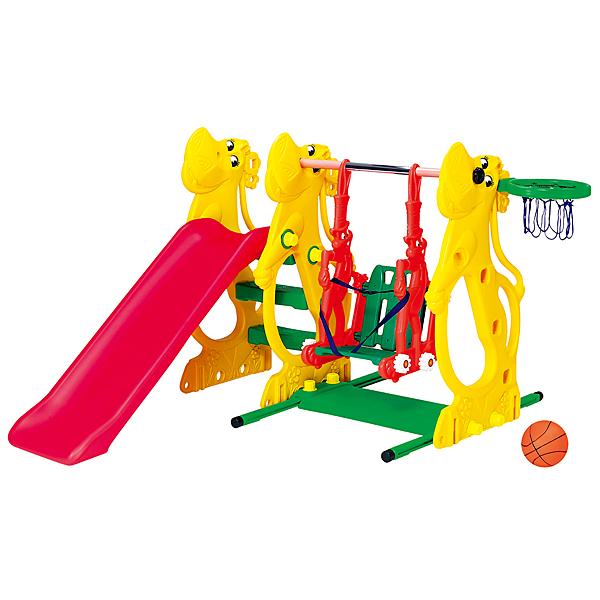 親親 河馬溜滑梯+鞦韆 SL-13 (ST安全玩具,台灣製造)