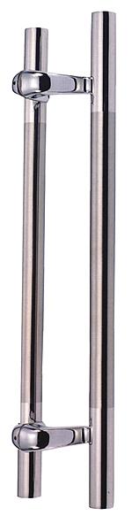 門把手PB-6007不鏽鋼鏡面+毛絲 長度450mm 孔距275mm 管直徑32mm
