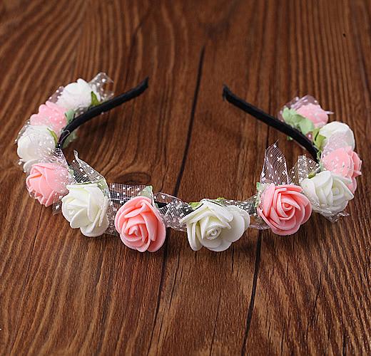 森女頭飾發箍發飾新娘花環旅遊攝影飾品韓式甜美兒童公主花環手環─預購CH1740