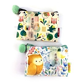 【收藏天地】台灣紀念品*漫遊台灣插畫零錢包-在地風情系列(3款) /皮夾