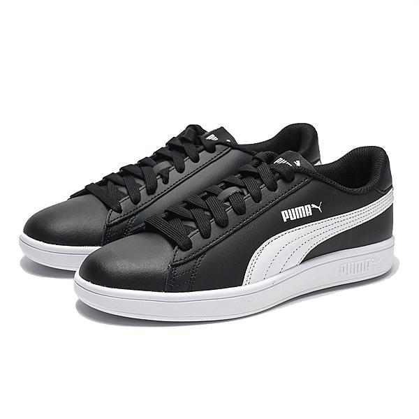 PUMA SMASH V2 皮革 黑 白 側條 休閒 小白鞋 男女(布魯克林) 2019/05月 36521504