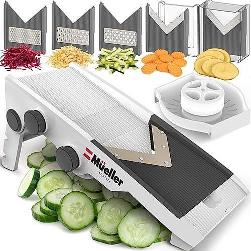 【美國代購】Mueller奧地利V-Pro多刀片可調曼陀羅奶酪 蔬菜切片機 可調節