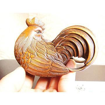 旺財擺件 吉祥長尾母雞 大號尺寸10cm