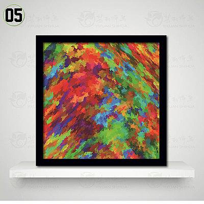 [銀聯網] 抽像圖案油畫裝飾畫客廳掛畫臥室牆畫(黑框) 1入