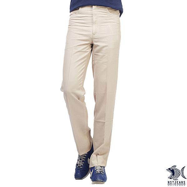 【即將斷貨】NST Jeans 黃金日落 莫代爾直紋休閒褲(中腰) 390(2001)