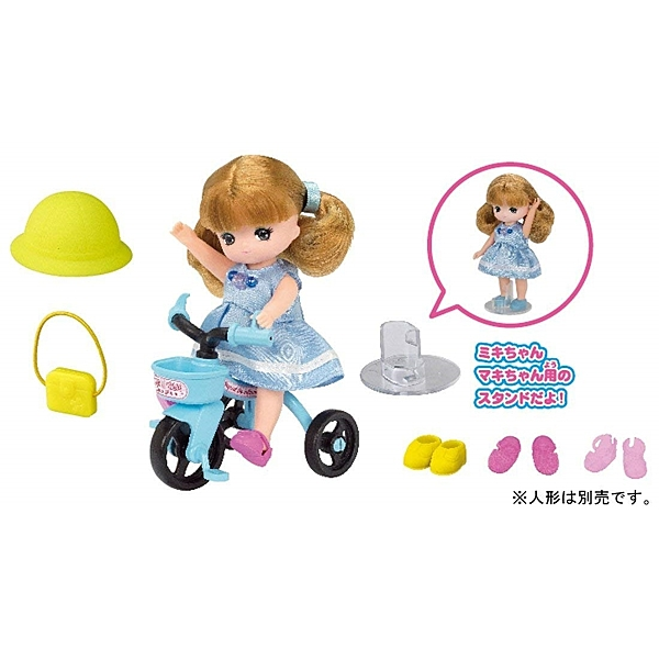 LICCA 莉卡娃娃配件組 LG-13 真紀美紀三輪車 (不含娃娃) 61867