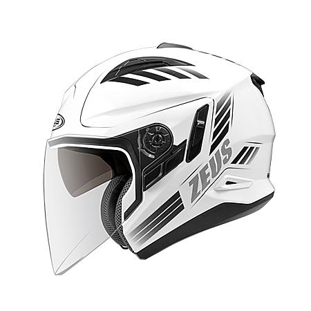 ZEUS 瑞獅 ZS-613B AJ10 3/4罩式安全帽  白黑