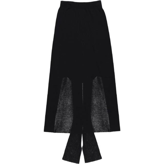 《セール開催中》JACQUEMUS レディース 7分丈スカート ブラック 38 レーヨン 70% / アクリル 30%