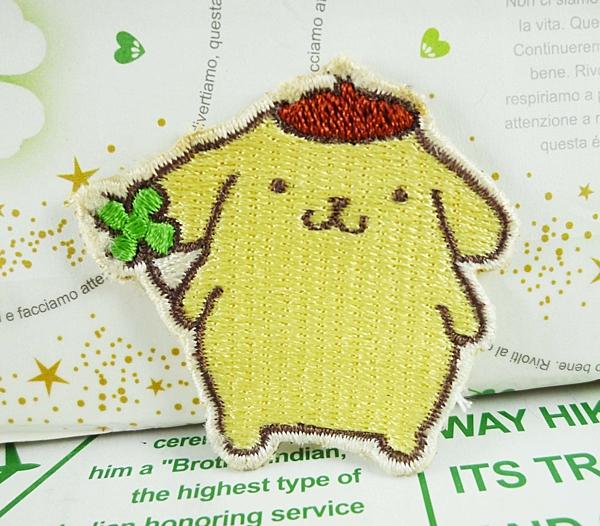【震撼精品百貨】Pom Pom Purin 布丁狗~造型貼布-幸運草