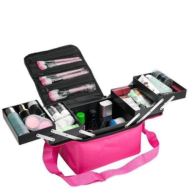 限定款化妝包 大容量收納多層專業化妝箱包手提彩妝美甲足療紋繡工具箱(免運)jj