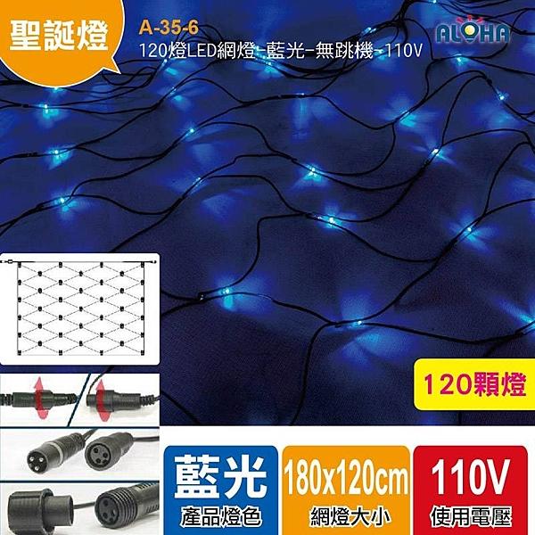 聖誕燈具批發 120燈LED網燈/藍光 無跳機帶尾插 A-35-6