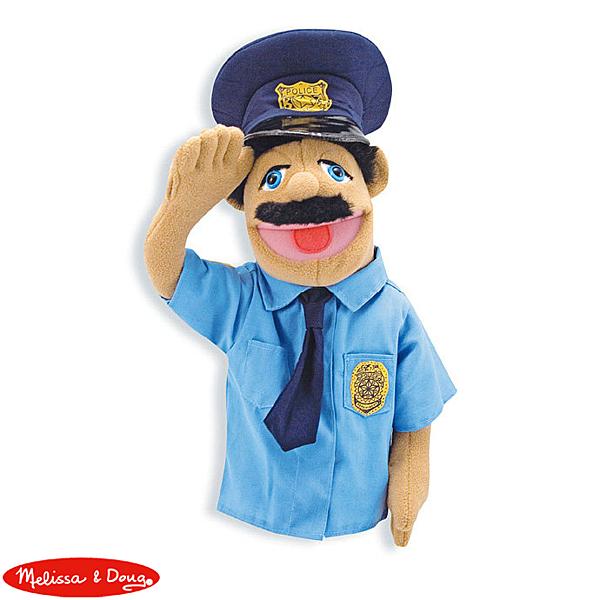 【華森葳兒童教玩具】扮演角系列-Melissa&Doug 警察大嘴偶 N7-2551